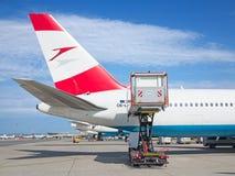 A-319奥地利航空 免版税库存照片