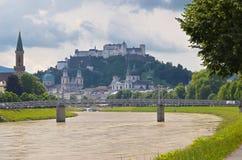奥地利萨尔茨堡 库存照片