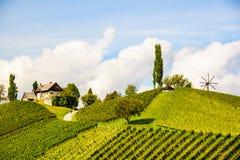 奥地利葡萄园莱布尼兹地区南施蒂里亚旅行斑点 库存图片