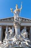 奥地利议会修造的外部,维也纳 免版税库存图片