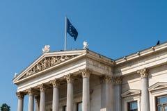 奥地利议会大厦(Parlamentsgebaude)在维也纳 库存图片