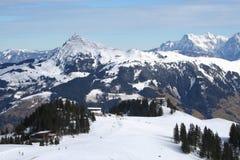 奥地利运行滑雪 图库摄影