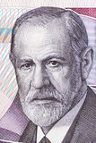 从奥地利金钱的西格蒙德・弗洛伊德画象 免版税库存图片