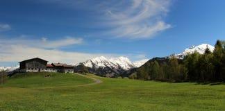 奥地利阿尔卑斯全景  图库摄影