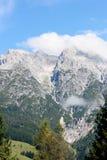 奥地利阿尔卑斯在夏天 库存图片