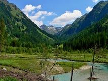 奥地利阿尔卑斯谷Weisspriachtal 库存图片