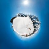 奥地利阿尔卑斯- 360度全景 库存图片