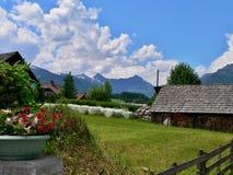 奥地利阿尔卑斯Bueggen 免版税库存照片