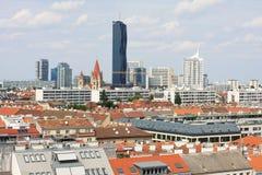 奥地利首都维也纳的中心的看法 免版税图库摄影