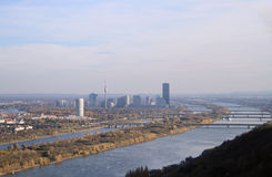 奥地利首都维也纳看法  库存照片