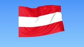 奥地利,无缝的圈的挥动的旗子 确切大小,蓝色背景 被设置的所有国家的地区 与阿尔法的4K ProRes 向量例证