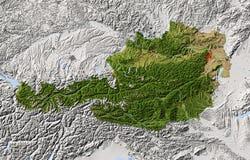 奥地利,被遮蔽的地势图 库存例证