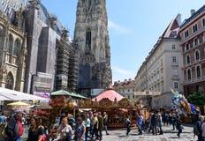 奥地利,维也纳- 2016年5月14日:圣斯蒂芬照片  库存图片