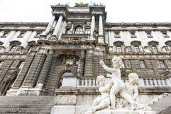 奥地利,维也纳- 2016年5月14日:照片雕象 图库摄影