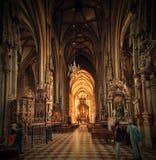 奥地利,维也纳12 06 2013年,圣斯蒂芬的大教堂 库存照片