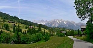 奥地利, Dachstein的阿尔卑斯外型 库存照片