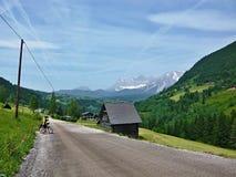 奥地利, Dachstein的阿尔卑斯外型 免版税库存照片