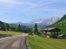 奥地利, Dachstein的阿尔卑斯外型 免版税库存图片