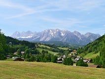 奥地利, Dachstein的阿尔卑斯外型 免版税图库摄影