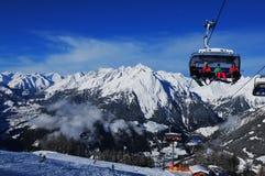 奥地利:滑雪地区Kals-Matrei在东部蒂罗尔 库存照片