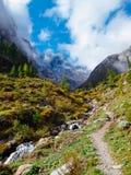 奥地利-卡尔尼克阿尔卑斯山脉 库存照片