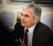奥地利总理维尔纳・法伊曼 免版税库存图片