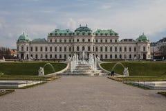 奥地利-维也纳-复杂眺望楼上部的宫殿,中世纪s 库存图片