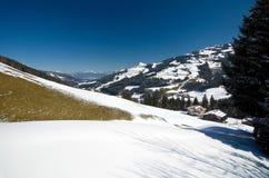奥地利-远足在Kitzbà ¼ heler阿尔卑斯 免版税库存图片