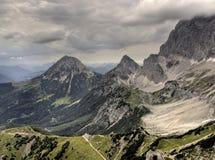 奥地利Dachstein全景 免版税图库摄影
