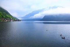 奥地利hallstatt湖 免版税库存照片