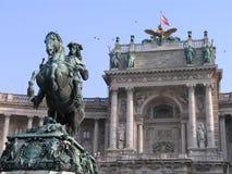 奥地利heldenplatz hofburg维也纳 免版税库存照片