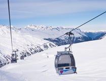 奥地利hohrgurgl手段滑雪 库存照片