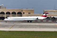 奥地利MD-80 免版税库存图片