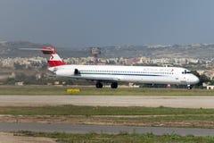 奥地利MD-80 免版税图库摄影