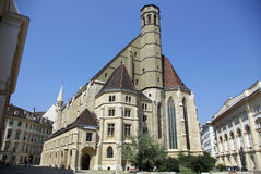 奥地利minoritenkirche wien 免版税库存照片