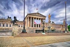 奥地利Parlament在维也纳 库存图片