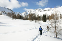 奥地利skitour 库存照片