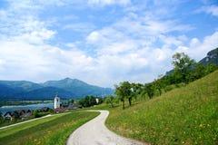 奥地利st沃尔夫冈 免版税库存照片