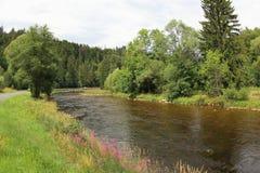 奥塔瓦河河,捷克 库存图片
