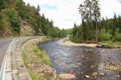 奥塔瓦河河,捷克 免版税库存图片