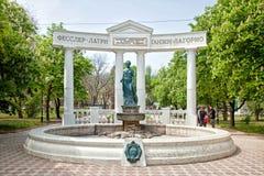 费奥多西亚 对守护天使的雕塑 图库摄影