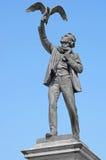 奥尔布雷克特rodenbach雕象 免版税图库摄影