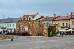 奥尔库什市在波兰 免版税库存照片