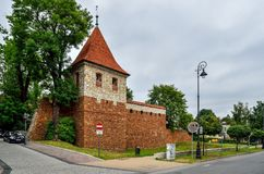 奥尔库什市在波兰 库存照片