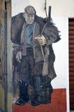奥尔戈索洛意大利Murales 10月4日2015年在奥尔戈索洛意大利,因为大约1969壁画反射撒丁岛的不同方面 图库摄影