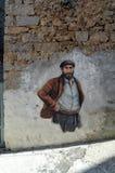 奥尔戈索洛意大利Murales 10月4日2015年在奥尔戈索洛意大利,因为大约1969壁画反射撒丁岛的不同方面 免版税图库摄影