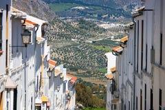 奥尔维拉是卡迪士省的,安达卢西亚,南西班牙一个白色村庄 库存照片