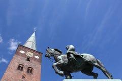 奥尔胡斯,丹麦大教堂  免版税库存图片