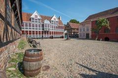 奥尔胡斯,丹麦老镇  免版税库存图片
