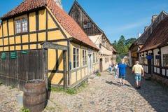 奥尔胡斯,丹麦老镇  库存图片